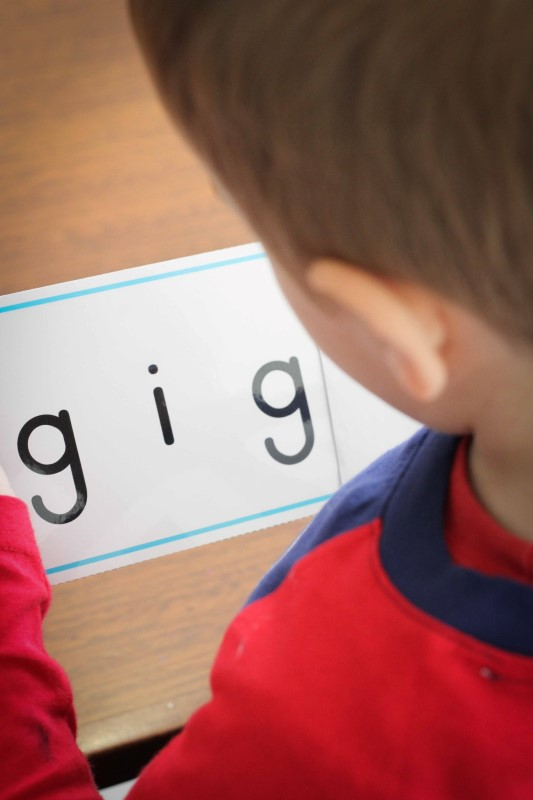 Preschool Letter of the Week G CVC word slider cards