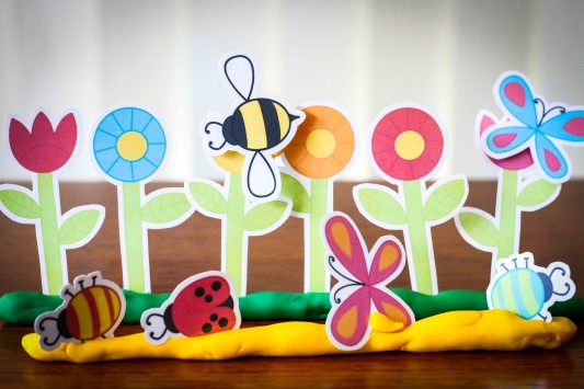 Preschool Letter of the Week G Garden Bugs Flowers Play Dough