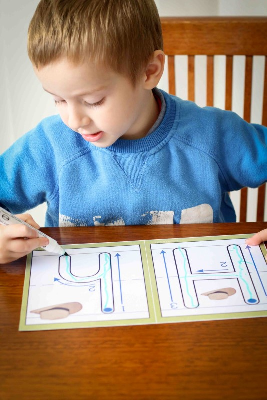 Preschool Letter H playdough mats