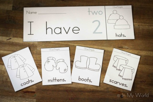 Preschool Letter J Number flip book