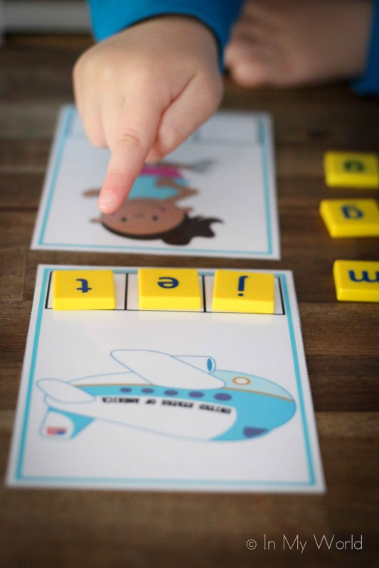Preschool Letter J CVC Word Builders
