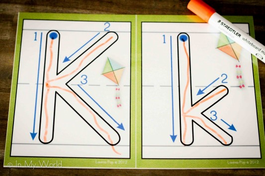 Preschool Letter of the Week K Play Dough Mat