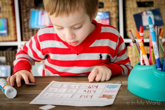 Preschool Letter of the Week Beginning K CVC word work