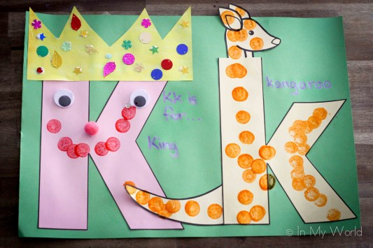 Preschool Letter of the Week K Alphabet craft