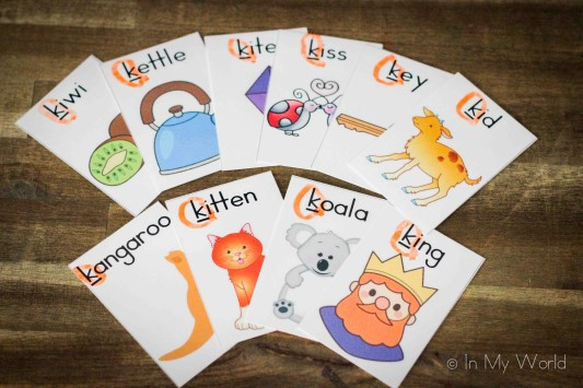 Preschool Letter of the Week K Vocabulary Cards
