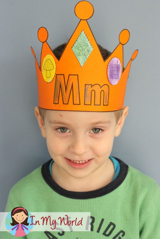 In My World Preschool Letter M Crown