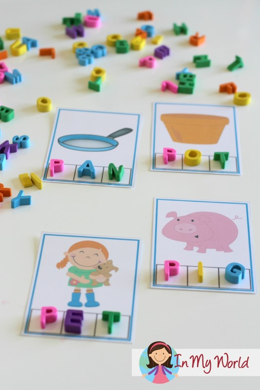 Preschool Letter P CVC Phoneme Segmentation Cards