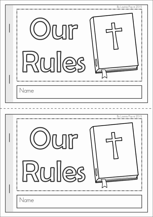 Sunday School Rules FREE Coloring Book