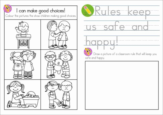 Sunday School Rules FREE Take Home Book