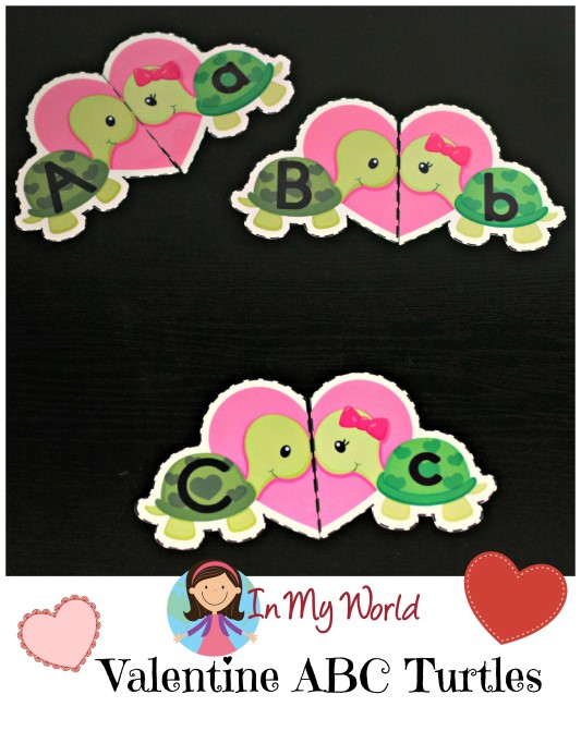 Valentine Turtles Alphabet Match Freebies  (2)