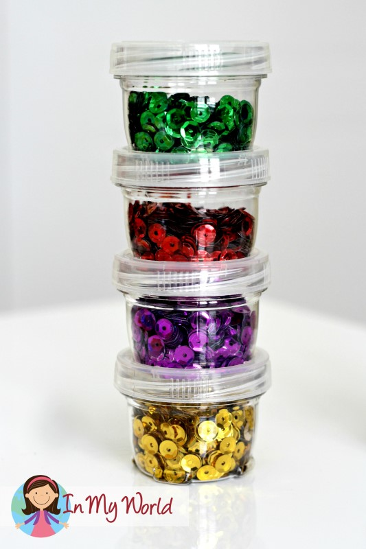 Storage solution for sequins
