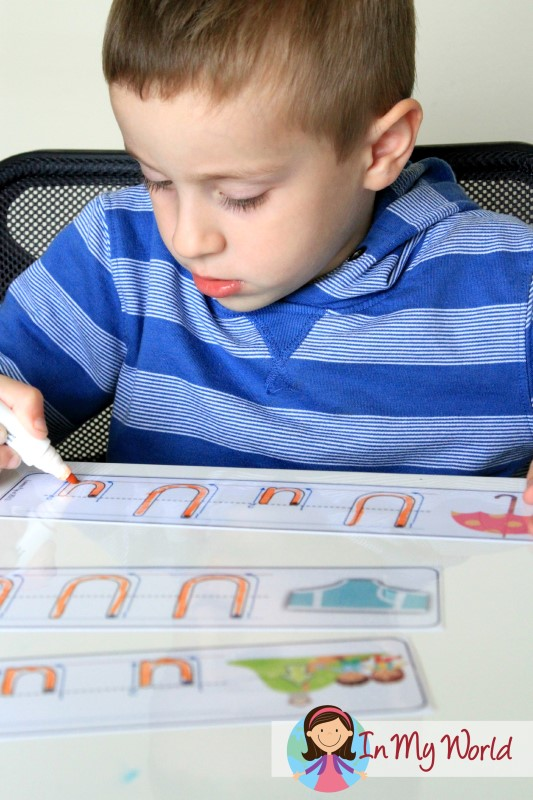 FREE Write and Wipe letter U cards