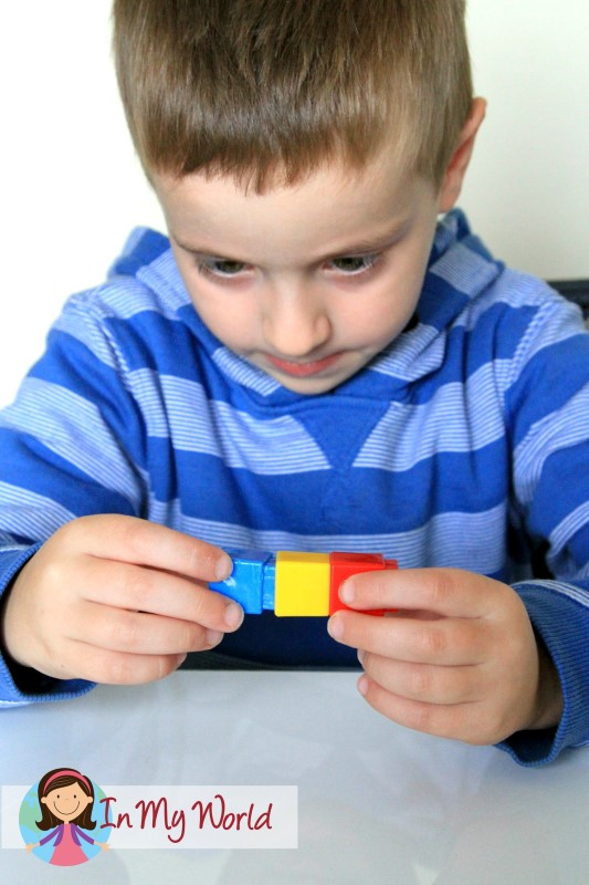 Making patterns with unifix cubes