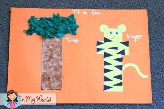 preschool letter t   in my world