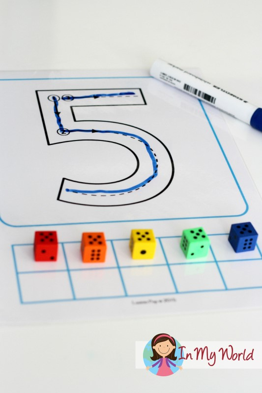 Back to School Preschool Centers - Number Tracing with correct formation