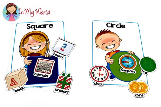 Back to School Preschool Centers - Shape Sorting Mats with Pictures