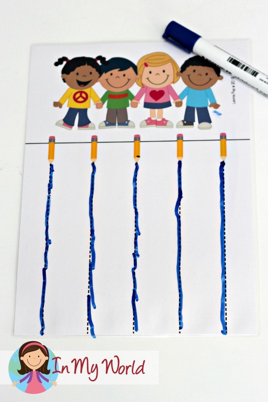 Back to School Preschool Centers - Pre-Writing Tracing