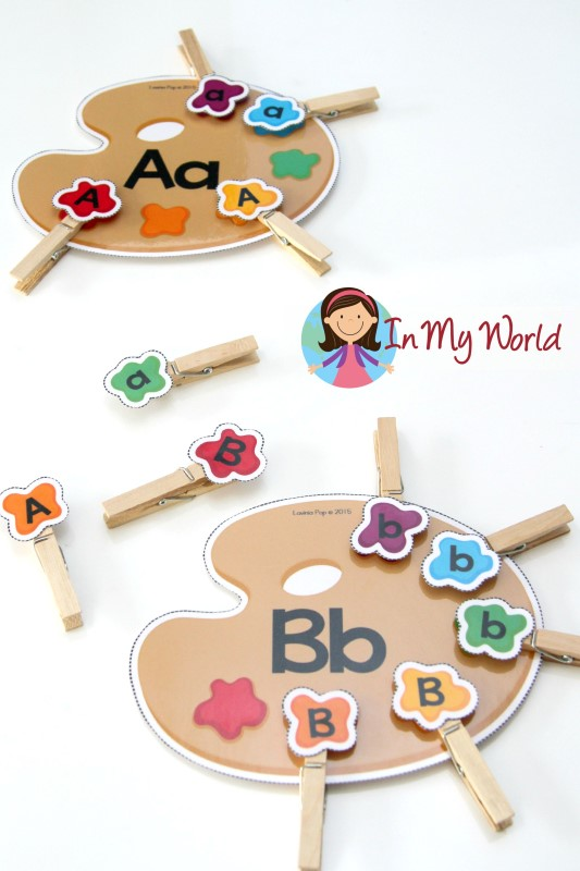 Back to School Preschool Centers - Alphabet Sorting Fine Motor
