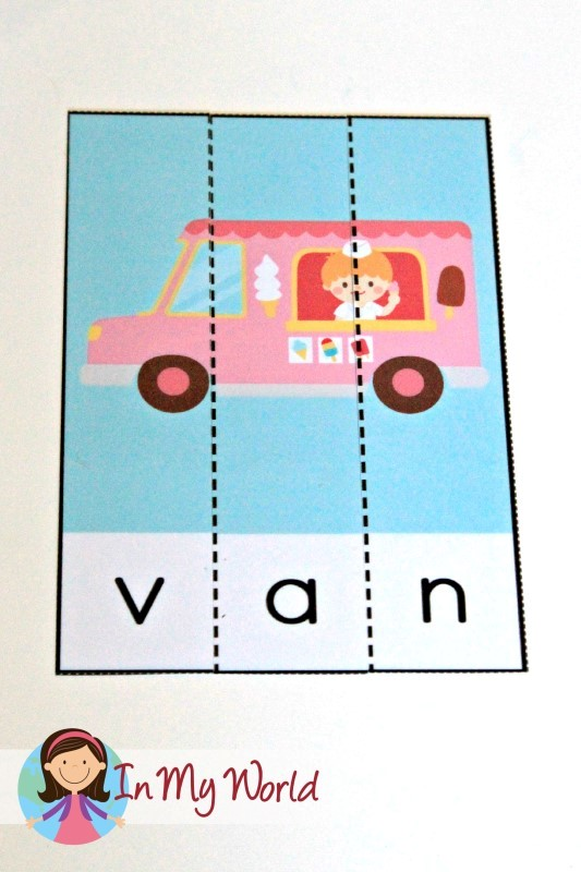 Preschool Letter of the Week CVC Puzzles