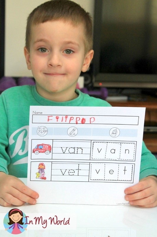 Preschool Letter of the Week CVC Word Work