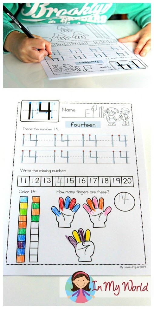 Preschool Letter of the Week Number 14 worksheet