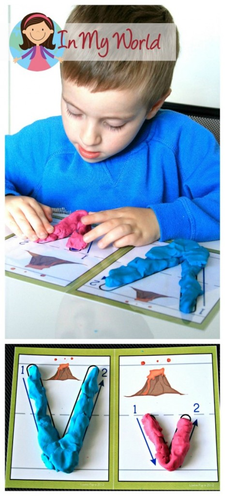 Preschool Letter of the Week Alphabet Play Dough Mats