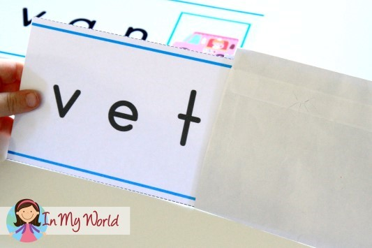 Preschool Letter of the Week Word Slider Cards