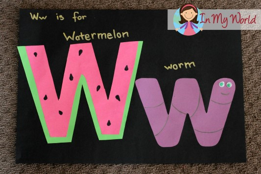 Letter W Weather Preschool Craft