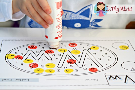 Preschool Letter W FREE Letter Find activity page