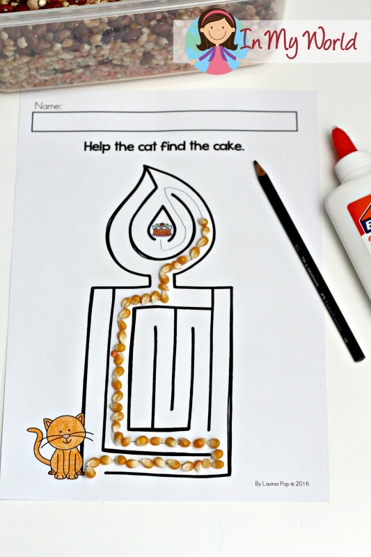 Free Alphabet Picture Maze Candle