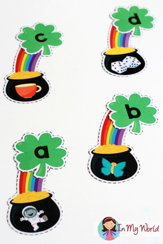 FREE St. Patrick's Day Beginning Sounds Activity