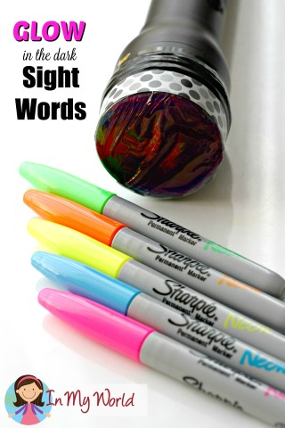 Glow in the dark Sight Words