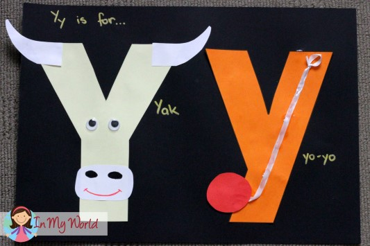 Preschool Letter Y - In My World