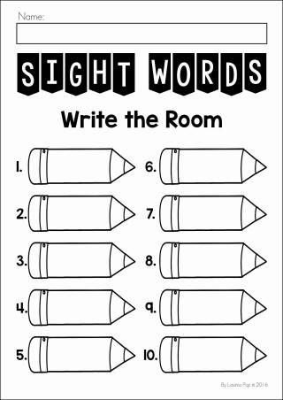 Sight Words Write the Room