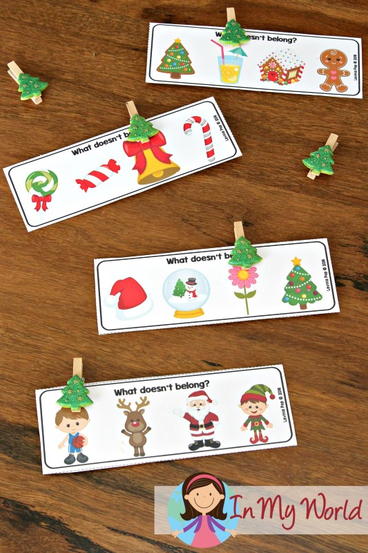 Christmas Preschool Centers Which picture doesn't belong