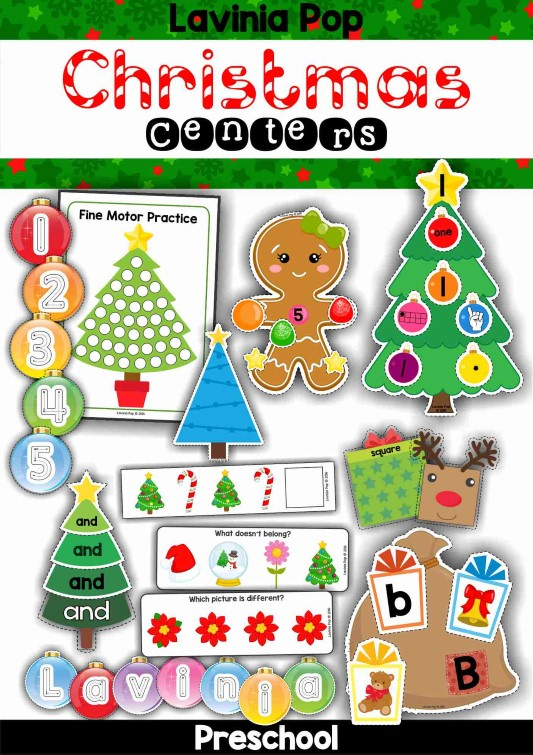 Preschool Christmas Classroom Decorations ~ Christmas preschool centers in my world