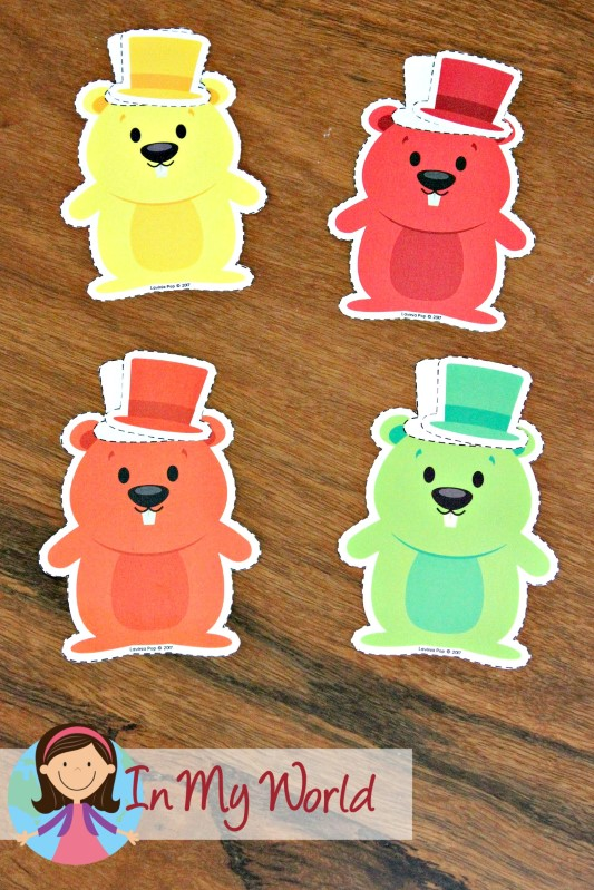 FREE Groundhog Day Preschool Centers Colour Match