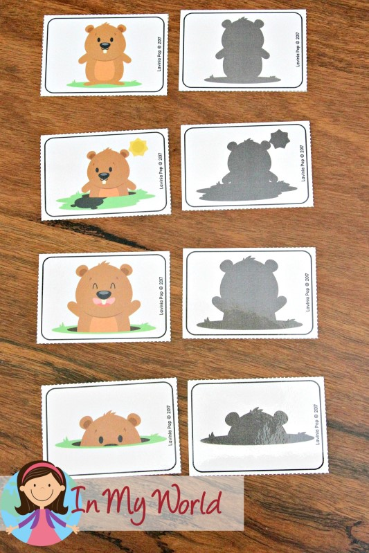FREE Groundhog Day Preschool Centers Shadow Match