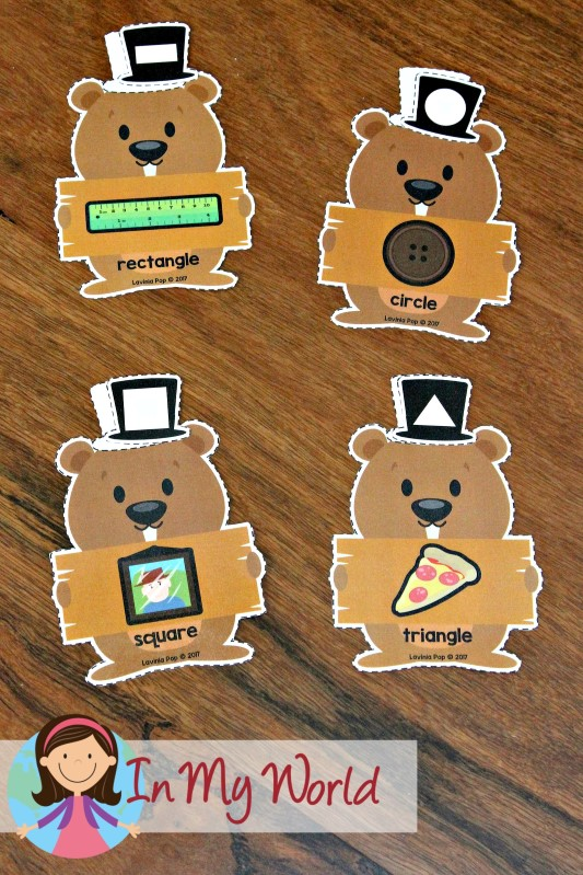 FREE Groundhog Day Preschool Centers Shape Match