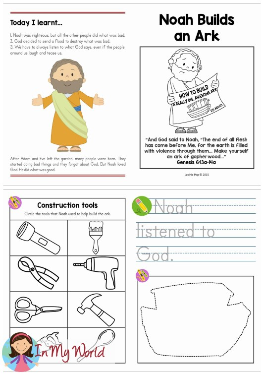FREE Sunday School Lesson: Noah's Ark Take Home Booklet