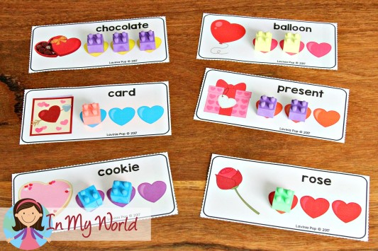 Preschool Valentine's Day Centers Syllables