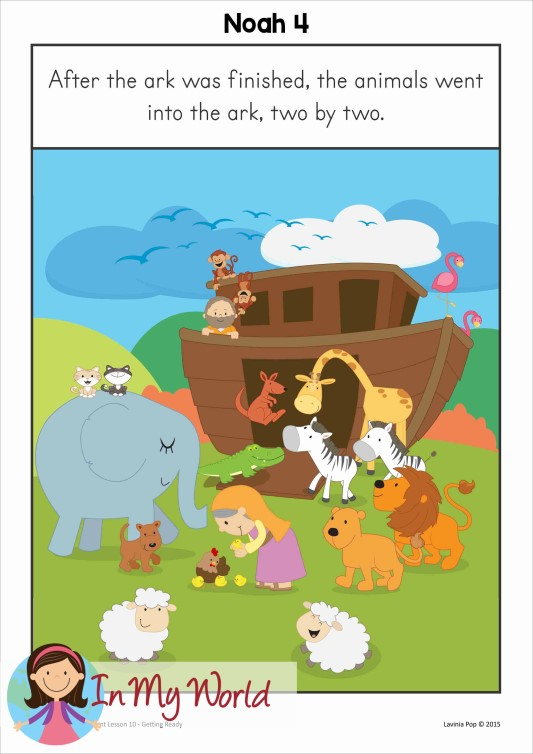 FREE Sunday School Lesson: Noah Gets Ready to go on the Ark