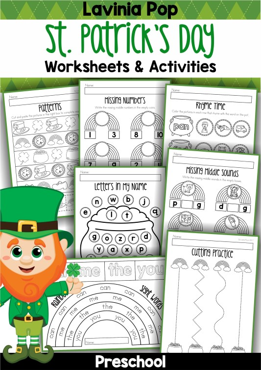 St. Patrick's Day Preschool Worksheets and Activities