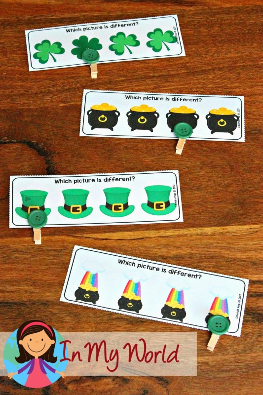 St. Patrick's Day Preschool Centers Which picture is different