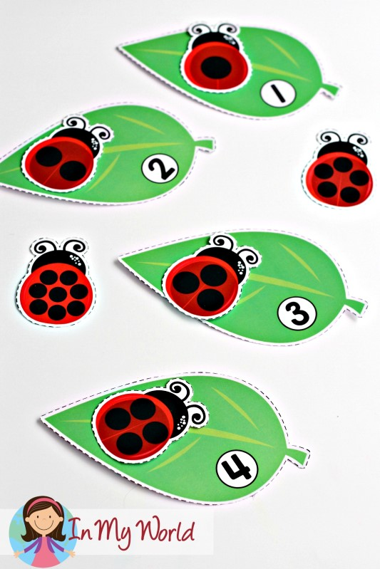 Spring Preschool Centers on Count The Ladybugs And Circle Numbers 1 To
