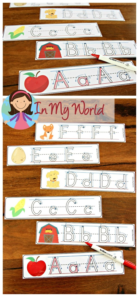 FREE Autumn Literacy Centers for Kindergarten. Alphabet Tracing.