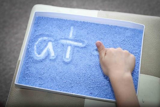 Salt tray writing