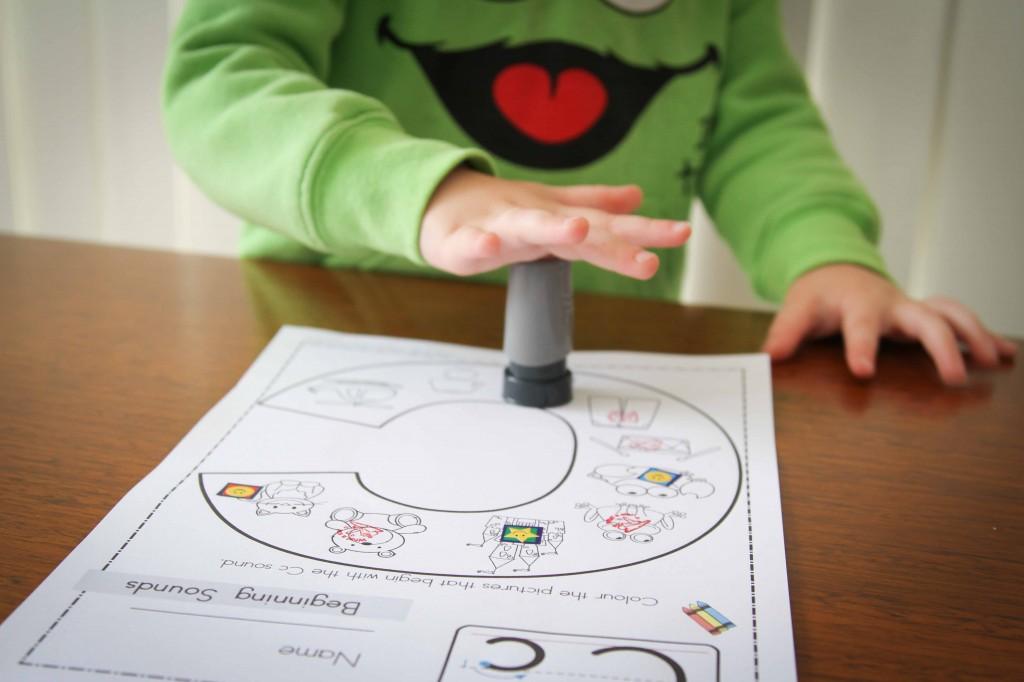 Preschool Letter of the Week C Beginning sounds Coloring