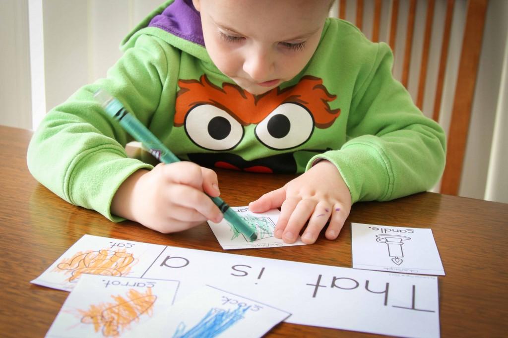 Preschool Letter of the Week C Beginning sounds Flip Book