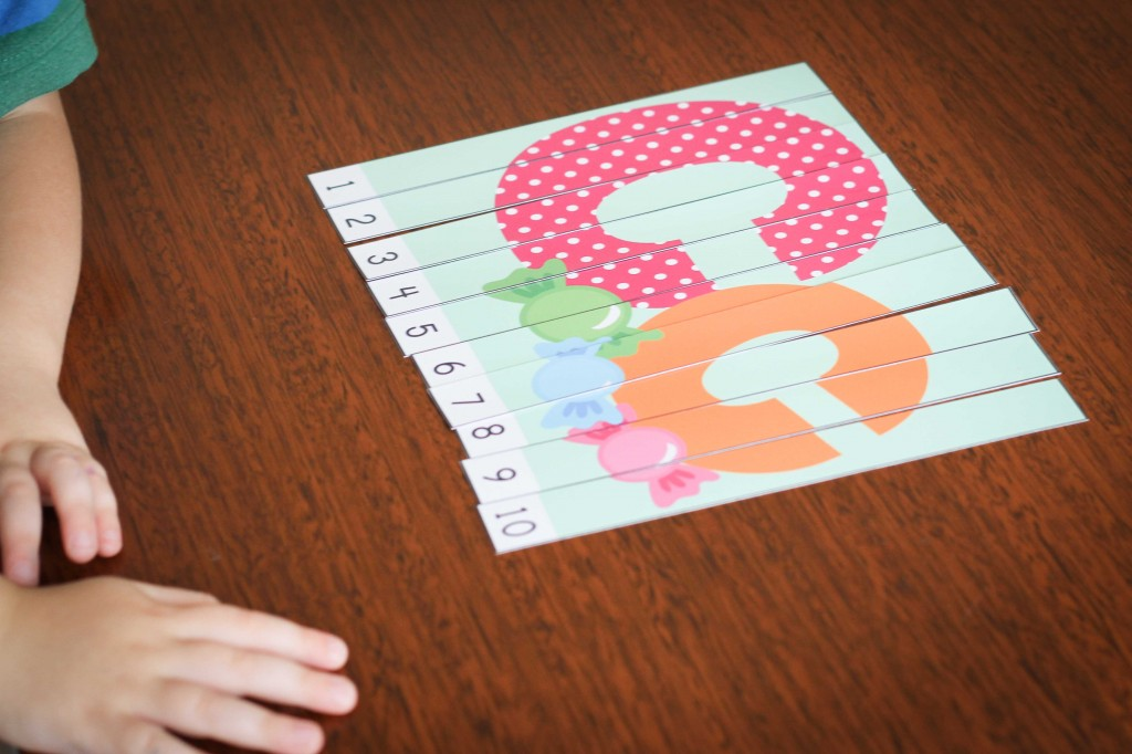 Preschool Letter of the Week C Letter Puzzle with Numbers 1-10